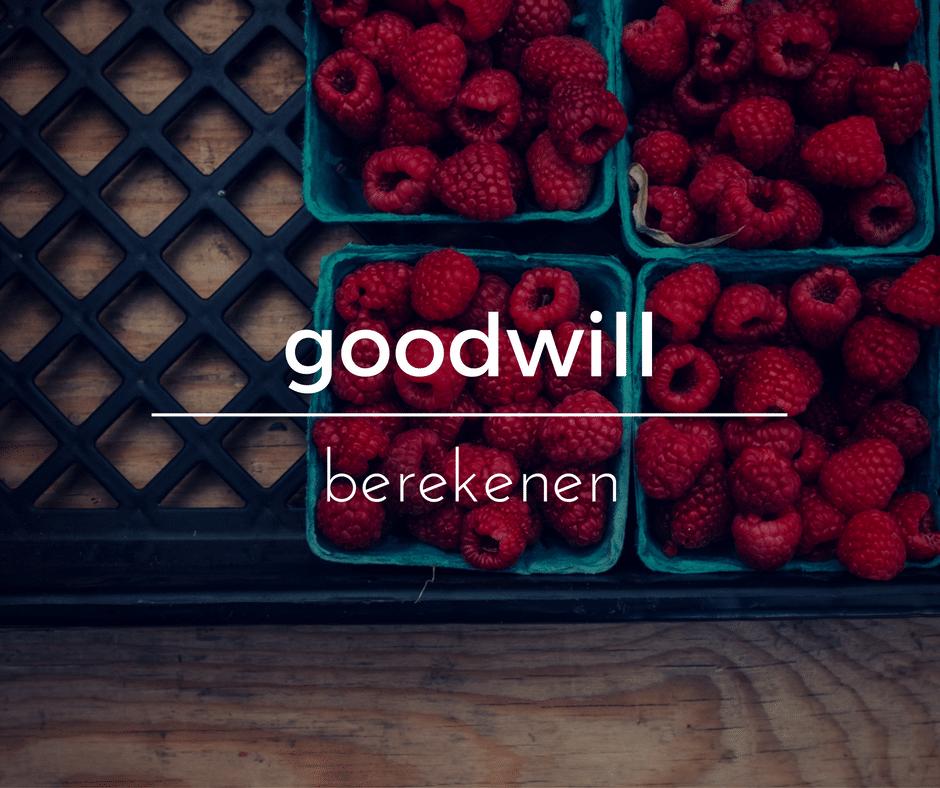 goodwill berekenen